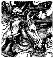 detail of Durer's Four Horsemen