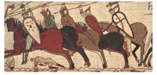 detail from the Bayeaux Tapestry