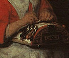 Detail of the Lacemaker by Nicholas Maes