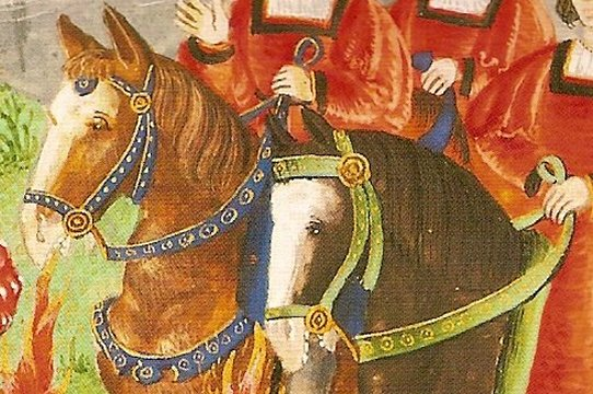detail of Charles V entering Bruges ca. 1515