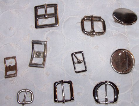 an assortment of buckles