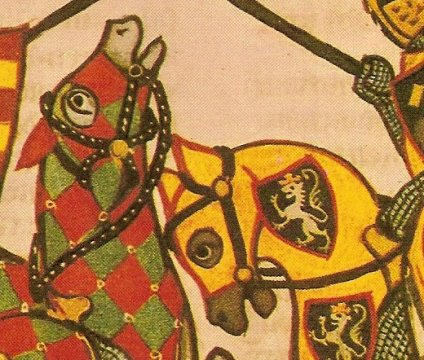 a detail from the manesse codex
