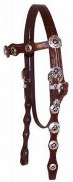 a decorated modern western bridle