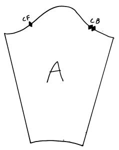 diagram of basic sleeve pattern
