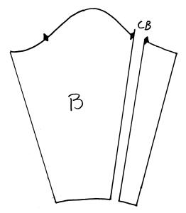 diagram of slashed sleeve pattern