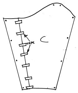 diagram of finished sleeve pattern
