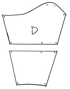 diagram of cut sleeve pattern