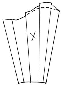 diagram of folded sleeve pattern