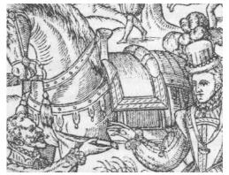 detail of Queen Elizabeth I hunting